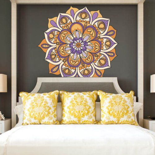 Full Color Wall Decal Mandala Model Map Ornament Star Buddha Yoga Flower  Mcol35 DecorWallDecals Http: