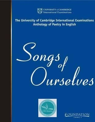 Songs Of Ourselves Volume 1 Cie Source Advanced As A Level