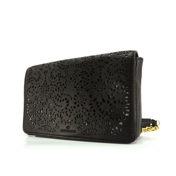 Floriana Black Clutch Bag | Artessorio