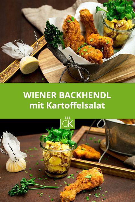 Wir kennen es von Wiens Heurigen oder als Garnierung auf Buntem Blattsalat - das Backhendl. Knusprig die Panier, saftig das Hühnerfleisch. #rezept #austrianfood #wien #backhedl #backhuhn #gutekueche #essen