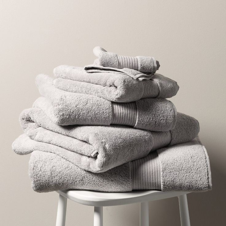Egyptian Cotton Towels - Pearl Grey | The White Company