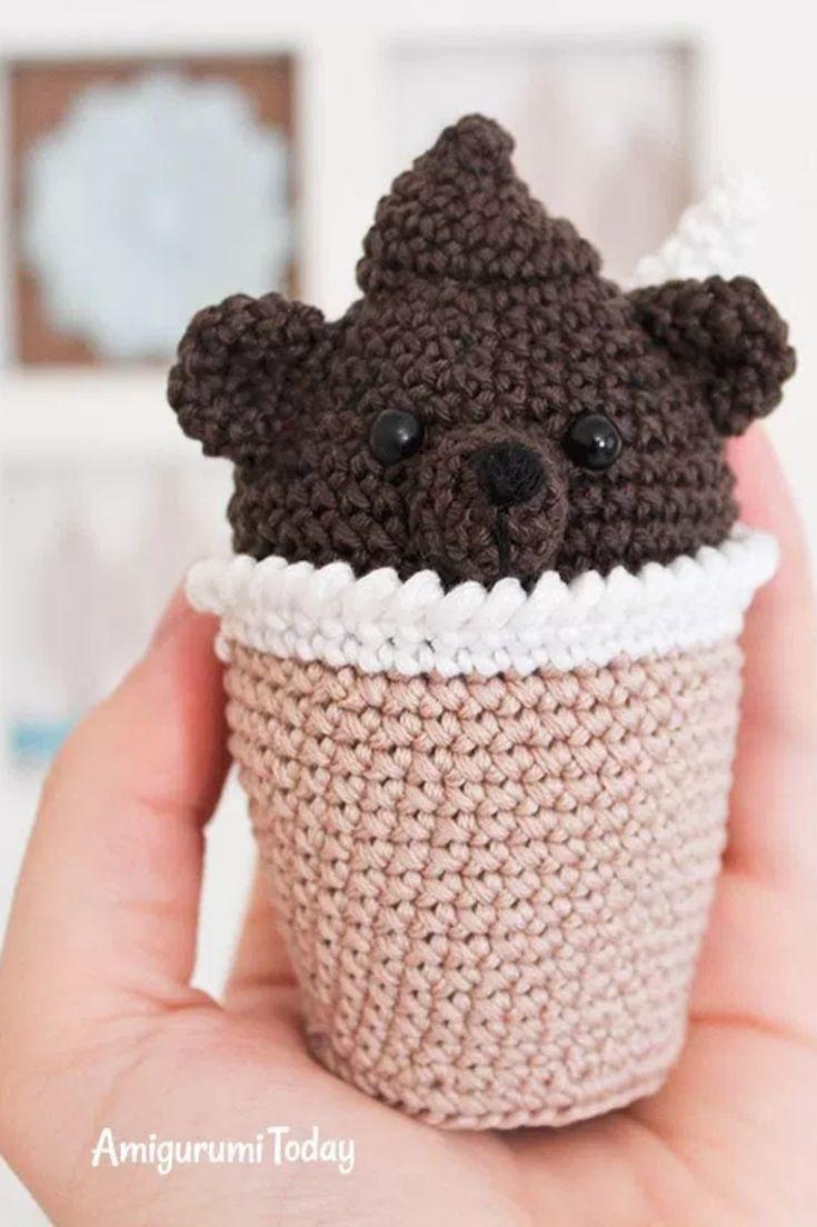 Amigurumi: crochet creamy choco bear