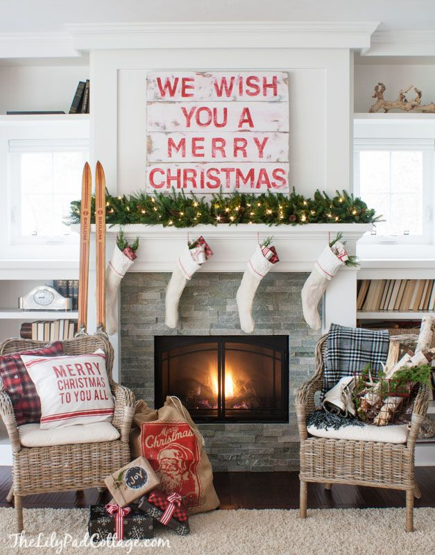 Christmas Mantel The LIlyPad Cottage