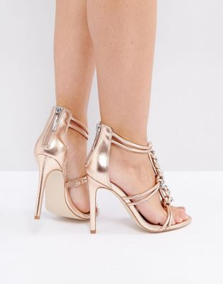 ASOS HIGH SHINE Embellished Heeled Sandals