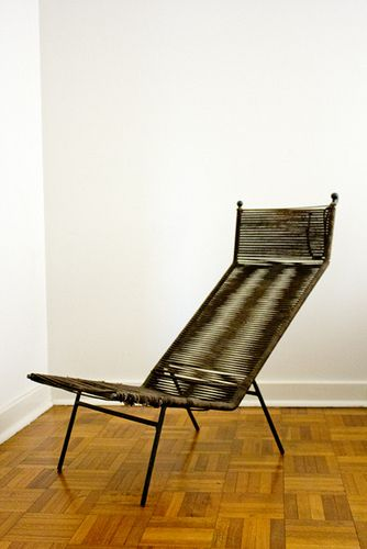 Clement Meadmore; Enameled Metal And Cord U0027Stringu0027 Chair, ...