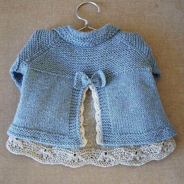 Back of Charlee Baby Girl Jacket on Ravelry.