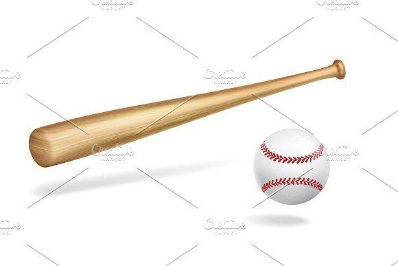Wooden Baseball Bat And Ball Baseball Bat Baseball Bat