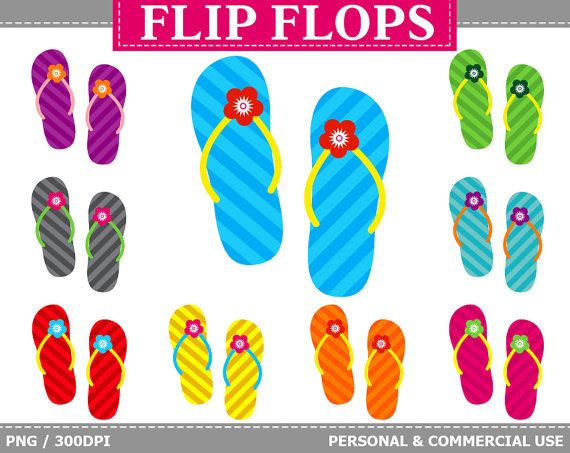 More #Beach #Clipart can be found here: http://etsy.me/2nhv0Mu  9 #Digital Striped Flip Flops Clipart - Stripes, Sandals, Beach, Colorful Flip Flops Clip Art. Commercial and P... #thecreativemill #clipart #digital #flops #stripe #beach #summer #colorful