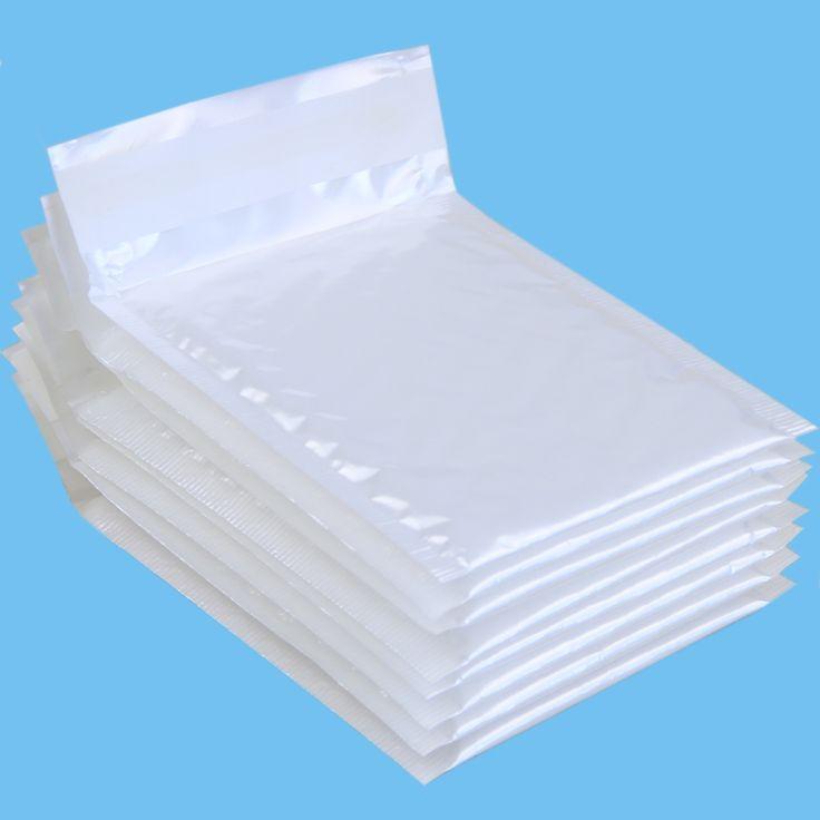 """10 יח'\אריזה, 110*130 מ""""מ סרט לבן פנינה מעטפת בועת שקיות דיוור אריזה"""