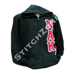 Nu Alpha Kappa Fraternity Midweight Zip-Up sweatshirt $35 #nualphakappa #NAK #twill #stitchzone #custom #embroidery #fraternity #greekletters #letters #custondesign