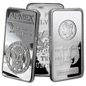 Buy Silver Online | Buy 10 oz Silver Bar - Mint Varies - .999 Fine | APMEX.com