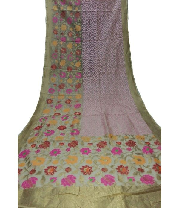 Pastel Handloom Banarasi Jute Net Saree---  No wonder the craze for Net Sarees has seen a surge in recent times owing to its unique way that makes it highlight both sensuality and femininity effortlessly. For details click here--- http://luxurionworld.com/banarasi-Sarees-varanasi-pure-silk/LWBSSI480_Pastel_Handloom_Banarasi_Jute_Net_Weaving_Saree.html