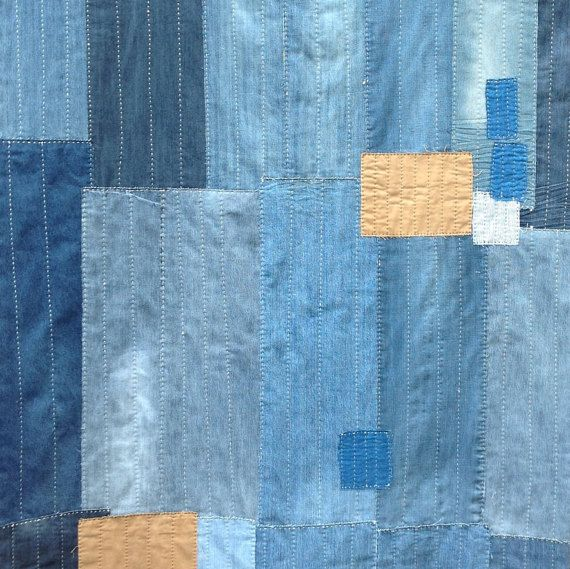 Hey, I found this really awesome Etsy listing at https://www.etsy.com/listing/221434449/hand-sewn-denim-and-linen-patchwork