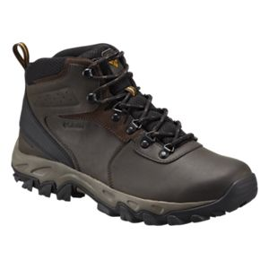 Columbia Newton Ridge Plus II Waterproof Hiking Boots for Men - Medium - Cordovan/Squash - 11.5