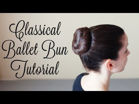 Excellent classical ballet bun YouTube tutorial! This is how we like to do our buns every day!