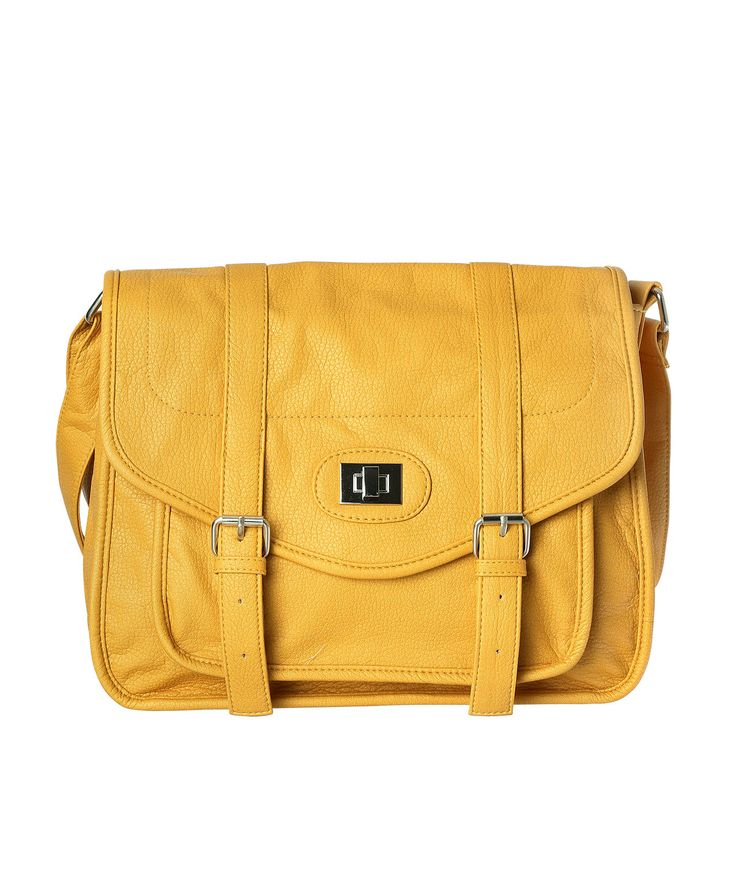 Cross-body book bag in Mustard! Hot!