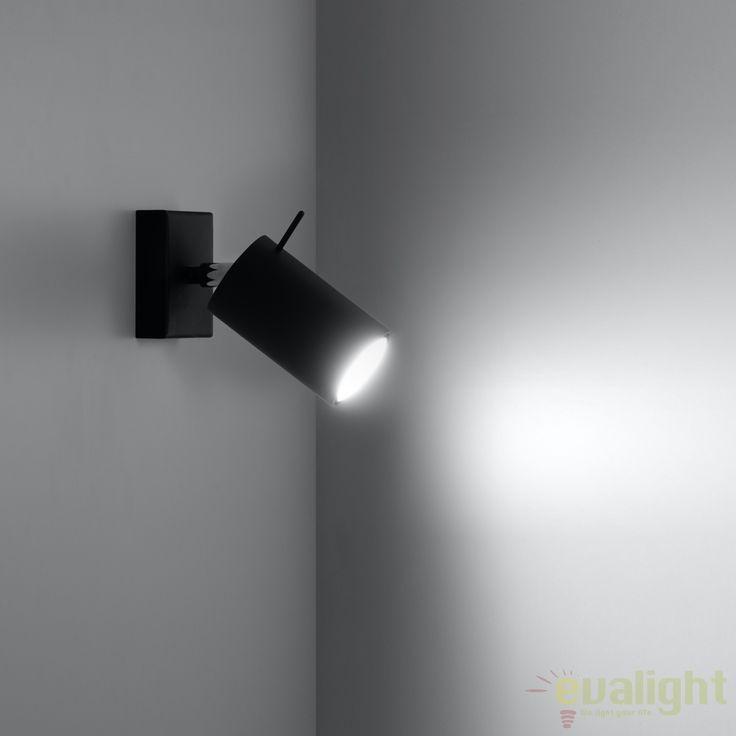Aplica de perete design modern minimalist RING I neagra SL.0091 - Corpuri de iluminat, lustre, aplice