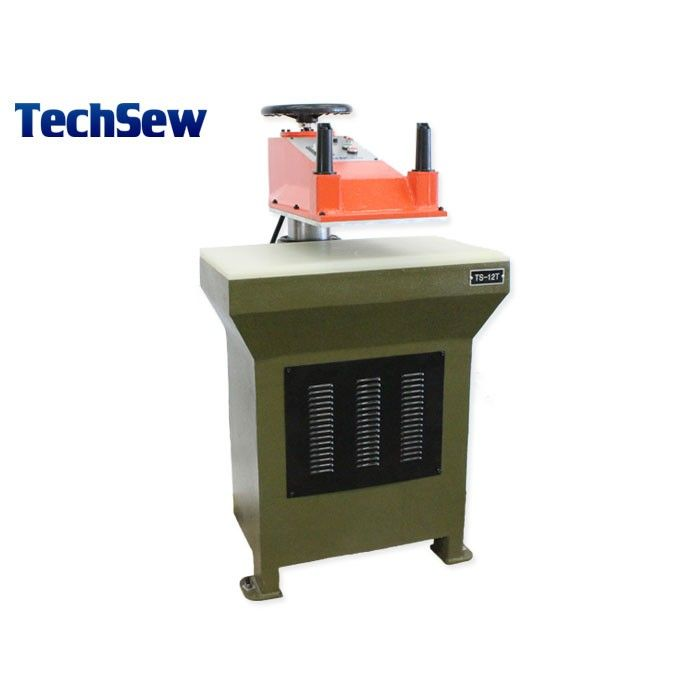 Techsew TS-12 Hydraulic Swing Arm Clicker Press #techsew #leathergoods #leathercraft  #leather #designer #fashion #shoes #boots #wallets #apparel #hydraulicclicker #purse #leatherbag