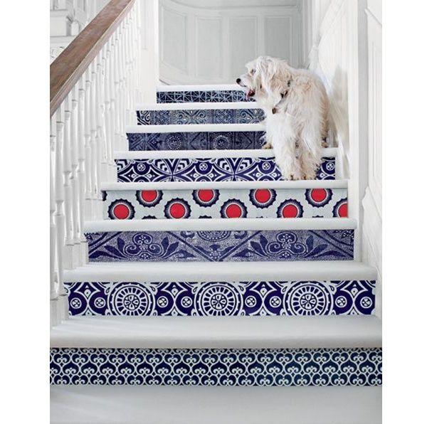 Les 25 meilleures id es concernant escaliers au pochoir - Papier peint escalier ...