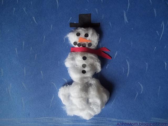 Easy Snowman Craft at AHHHMOM.Blogspot.comEasy Snowman, Snowman Crafts, Kids Crafts