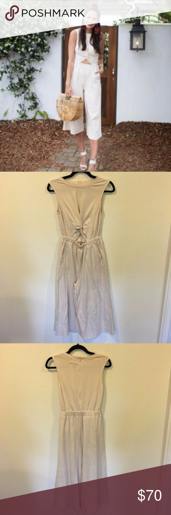 NWT MINKPINK twist tee nude jumpsuit New nude jumpsuit with front cut out! From the Miller Affect blog. No trades. MINKPINK Pants Jumpsuits & Rompers