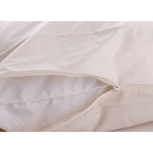 Anti Allergy Bedding - Cottonfresh Fully Enclosed Natural Cotton Pillow Cases (Pair) - King - 50 x 90cm