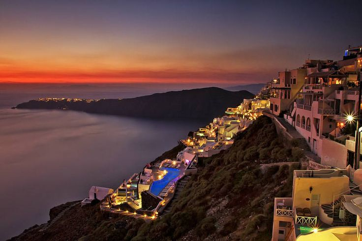 Dreamy famous sunsets in Santorini
