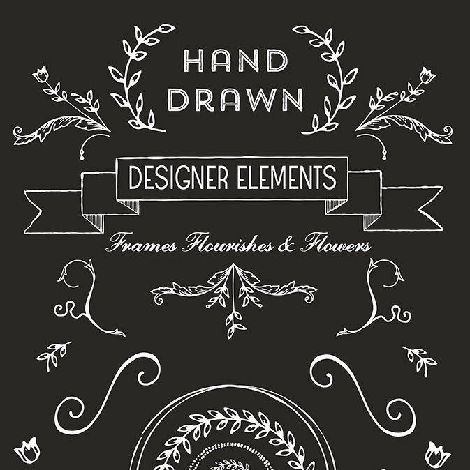 Hand Drawn Logo Design Elements | Pixel Candy Paperie