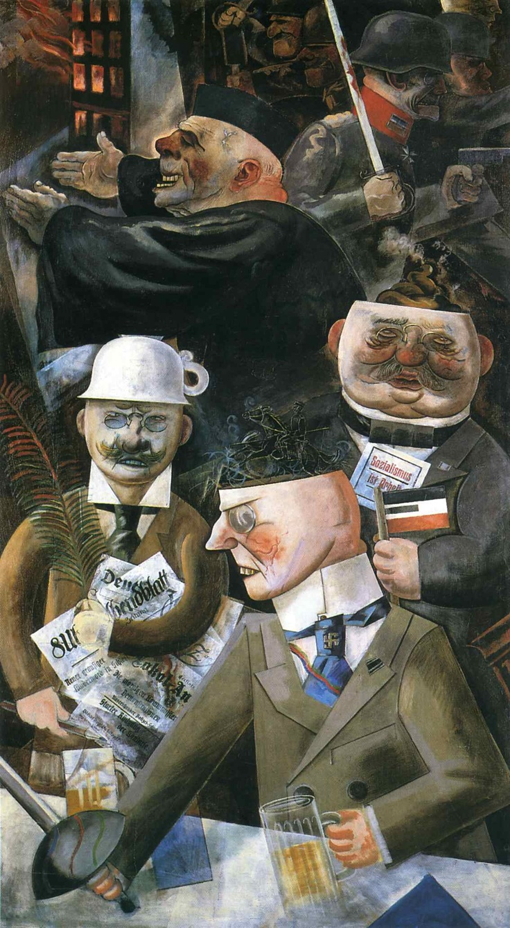 George Grosz - The Pillars of Society (1926)