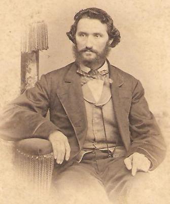 Antique CDV Photo MAN Portrait Civil War Era Photograph Picture Stamped On Back