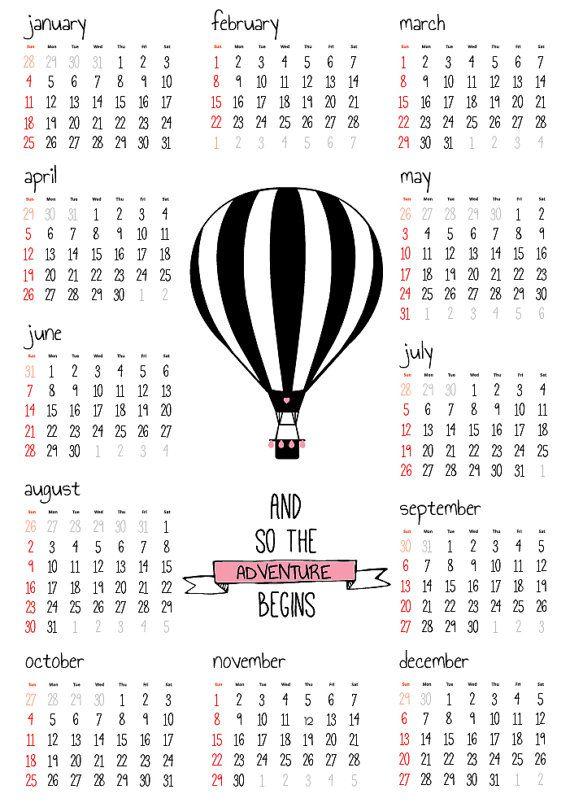 Best 25+ Year calendar 2015 ideas on Pinterest 2015 and 2016 - printable yearly calendar