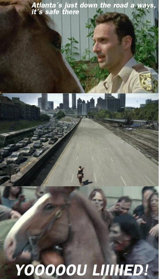 Rick Grimes, Horse, You Lied! | Zombies and The Walking ...