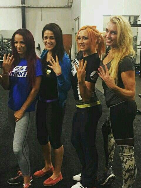 Sasha Banks, Bayley, Becky Lynch & Charlotte