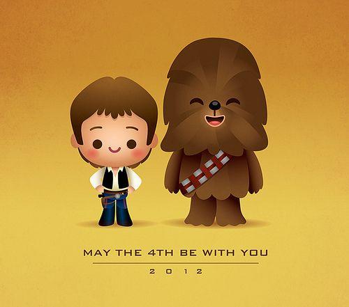 Kawaii Han and Chewie