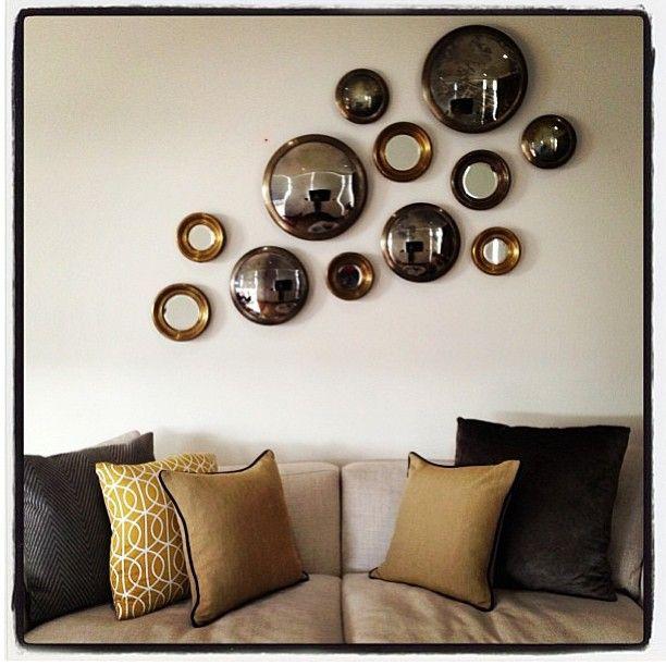 Cluster of our Harlem & Convex mirrors, styled by the talented @lilyg1mel www.boydblue.com #boydblue #boyd #interiors #interiordesign #homedecor #homewares #mirrorcluster #convex #design #homewares