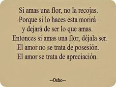 El amor se trata de apreciación...