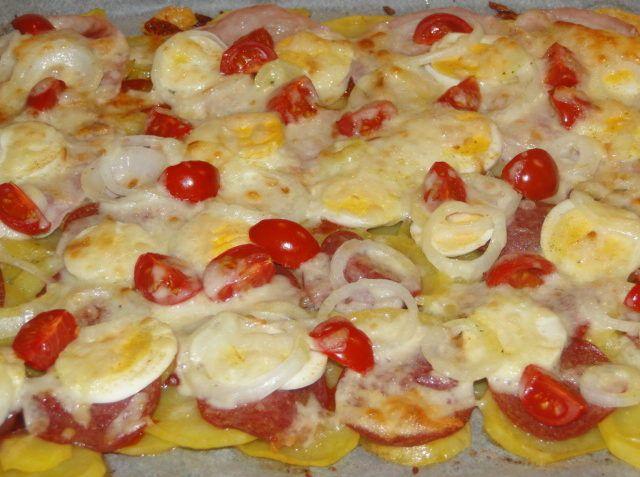 Rýchla pizza zo zemiakov