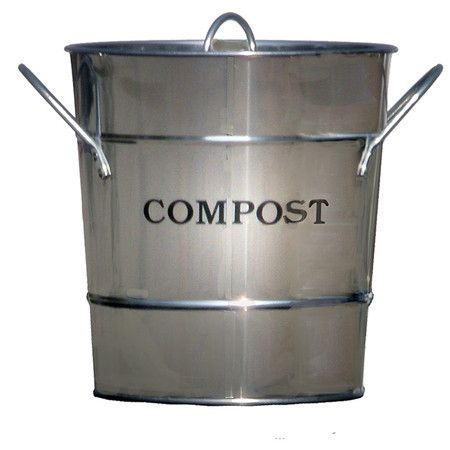 product compost material metal color stainless lid seals to control removable inner bucket for kitchen