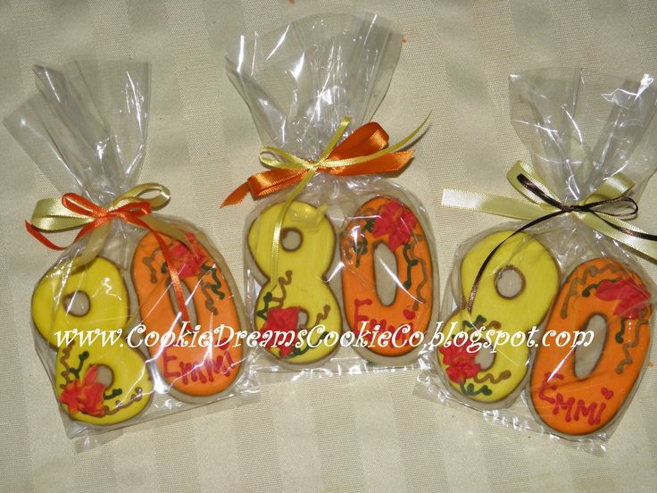 80th Birthday Party Ideas   80th Birthday Cookies !!
