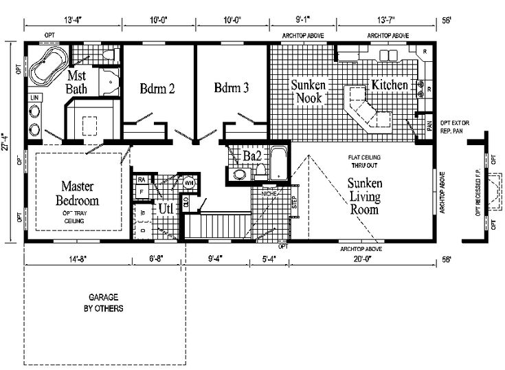 Ranch style house plans windham ranch style modular home for One level ranch home floor plans