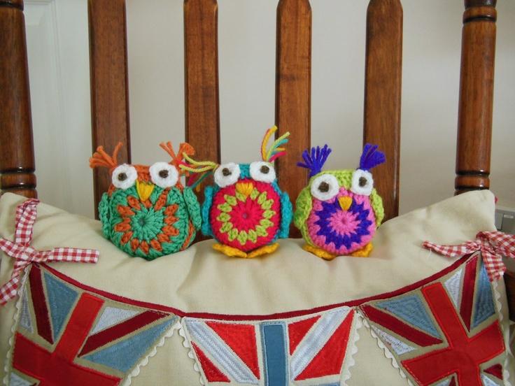 Cute little crochet owls!