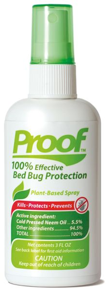Proof 100 Effective Plant Based Bed Bug Protection