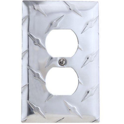 amerelle garage diamond cut aluminum wall plate with 1 duplex outlet certified diamonds club