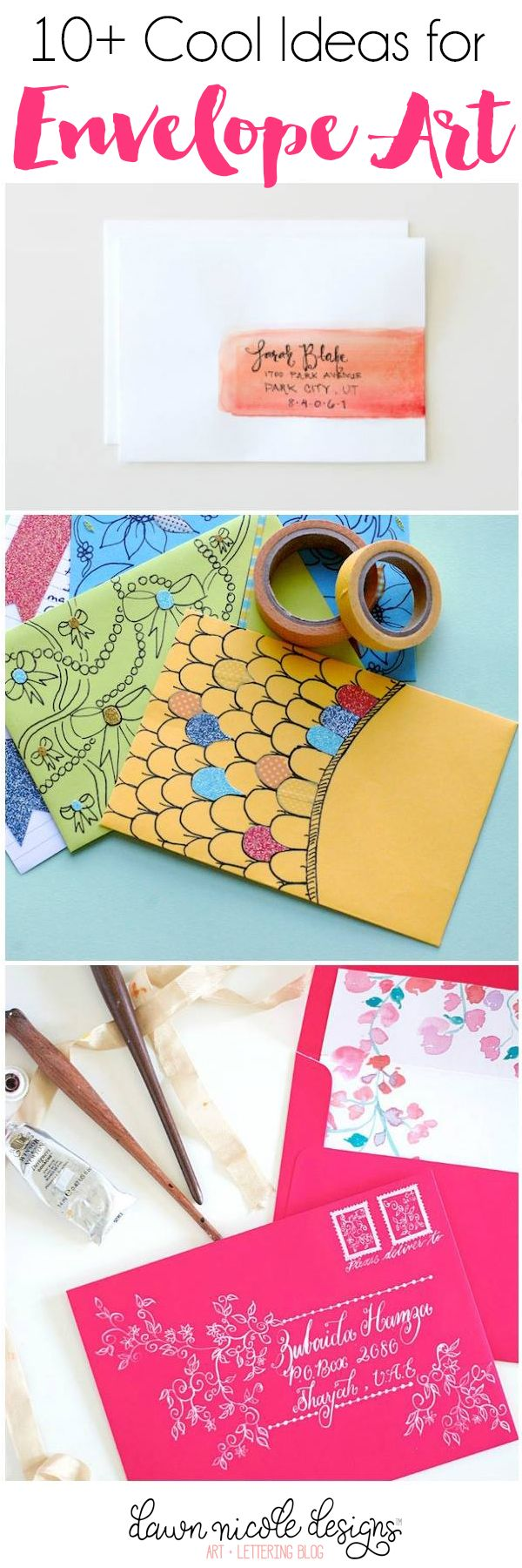 Best Mail Art Images On   Envelope Art Mail Art And