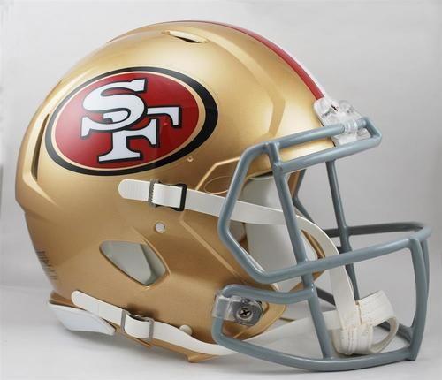 San Francisco 49ers Full Size Riddell Speed Football Helmet