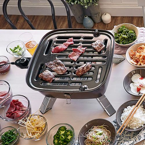 Pampered chef indoor outdoor grill - This is what we get to play with at my pampered chef party on Monday. It's kind of like a fondue party only indoor grilling instead. I can't wait.