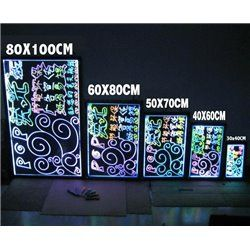 LED WRITING BOARD 80 X 100 CM
