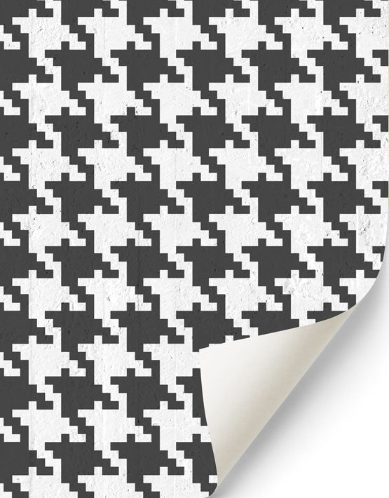 Pop Pied de poule #wallpaper in black. Buy on www.mrmanu.com