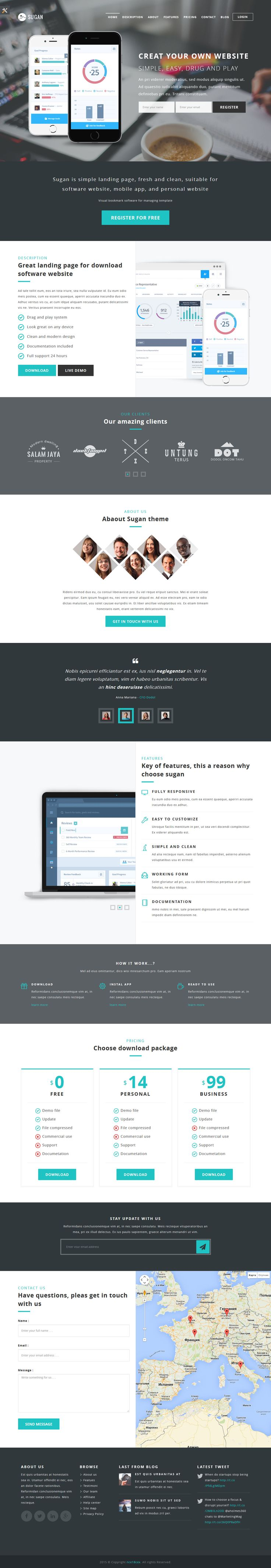 Sugan modern software landing page Template #website #webdesign Download: http://themeforest.net/item/sugan-modern-software-landing-page/12117484?ref=ksioks