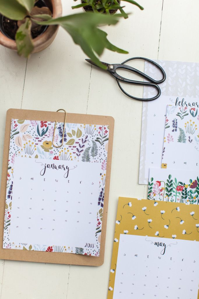 2018 Calendar - free printable Calendars Pinterest Calendar